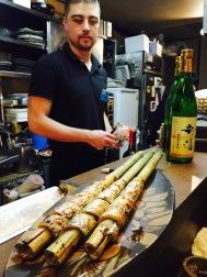Tachimaki, a Beppu seafood delight