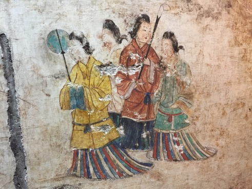 Fashionable ladies of the seventh century, Japan.
