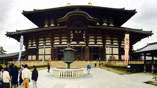 Todai-ji. World's largest wooden building, and a nice one at that.